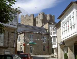 The medieval castle dominating the town