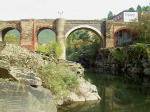 The medieval bridge in Cabralleda