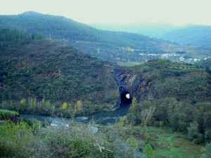 The tunnel and surrounding area