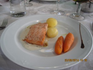 Salmon in cava sauce - perfection on a plate!