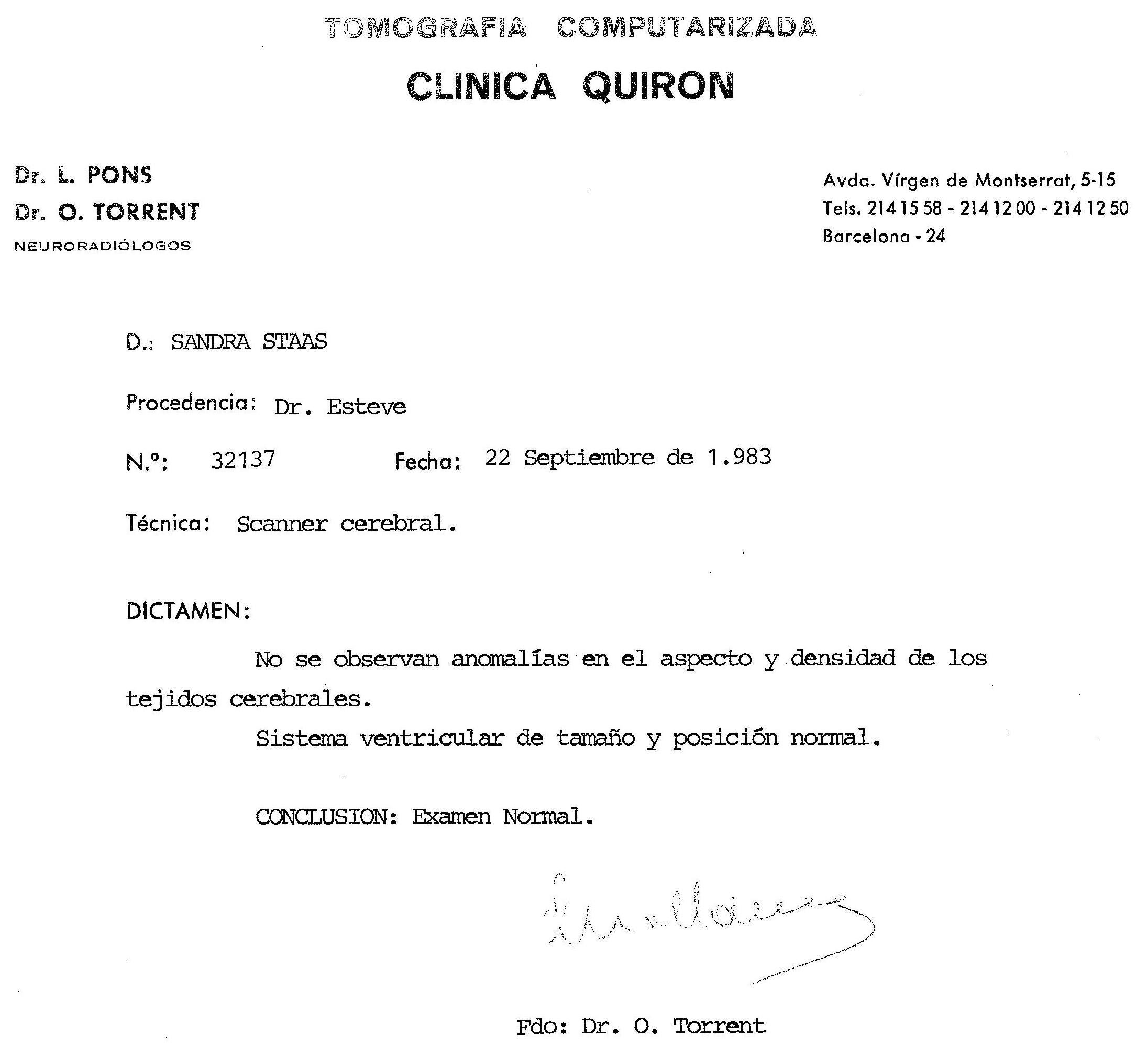 The Brain Scan, Tarragona, Spain, 1983